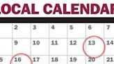 Calendar for Saturday