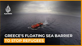 Greece's floating sea barrier to stop refugees