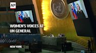 Women's voices at UN General Assembly growing