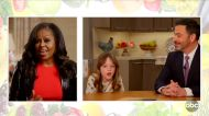 Michelle Obama hilariously fails to get Jimmy Kimmel's daughter to eat vegetables