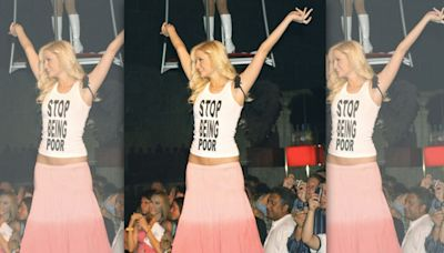 Artist Reveals Paris Hilton's Infamous 'Stop Being Poor' Tank Was Fake