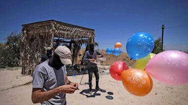 反擊「氣球炸彈」偷襲!以色列空襲哈瑪斯基地畫面曝光
