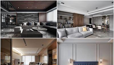 五星級飯店般的豪宅設計!以異質材激盪奢華感,重整格局建立開闊氣度
