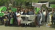 Rally Held In Support Of Maglev High-Speed Rail Project
