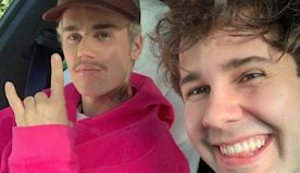 David Dobrik Reveals That Justin Bieber Tickled Him the First Time They Met