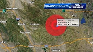 4.3 magnitude earthquake centered near Blackhawk felt throughout Bay Area