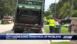 City of Port St Lucie addressing trash pick-up problems