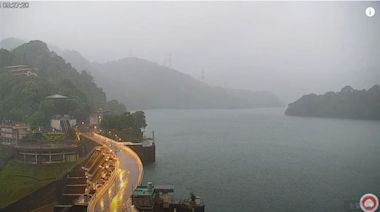 烟花雨彈炸北台灣!石門水庫蓄水率達95% 一年半來新高