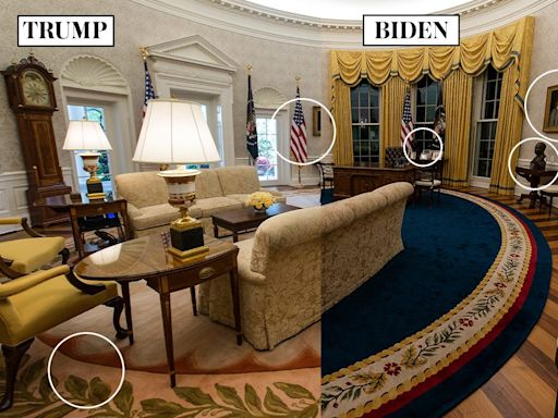 Spot the difference: How Joe Biden has swept away the signs of Donald Trump from the Oval Office