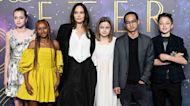 Angelina Jolie & Her Children Stun In Fierce Fashion For 'Eternals' London Premiere