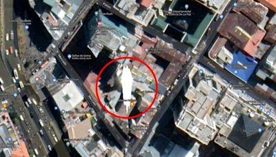 Google地圖驚見時空裂縫!屋頂「空白地帶」詭發亮 實際位置曝光