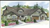 Home's exterior features Craftsman style