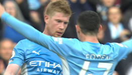 De Bruyne gives Man City breathing room v. Burnley