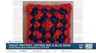 Violet Protest: uniting red and blue sides