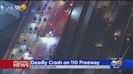 Deadly Crash On 110 Freeway Near USC