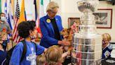 Tampa Mayor Jane Castor meets with children battling cancer