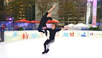Brother-Sister Ice Dancers Show Off Impressive Moves In Heart Of New York City.