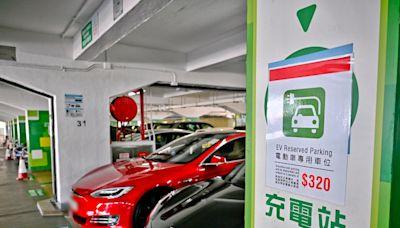 電動車私家車比例 3年間由1%增至12%