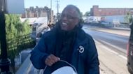 Reporter Anthony Johnson rescues stranded fish in Passaic