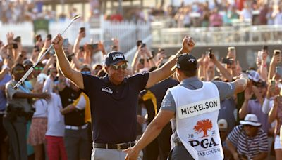 Phil Mickelson turns back the clock with win for the ages at PGA Championship