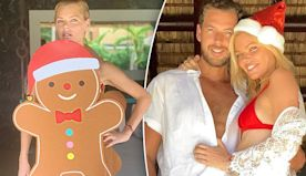 Sophie Monk dresses in Kmart gingerbread man outfit for Christmas