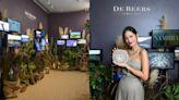 DE BEERS 全新NATURE'S ORIGINS頂級珠寶展,女星JANET謝怡芬知性現身,頌讚永恆自然奇蹟