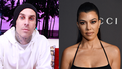 Travis Barker Shows Off His Risqué Kourtney Kardashian-Inspired Candle