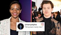 Harry Styles Drops the Mic After Candace Owens Disses Him For Wearing a Ball Gown