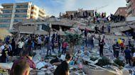 Earthquake hits coastal Turkey and Greece, topples buildings