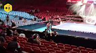 Dramatic video captures quake at Lucha Libre match