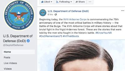 Army Units Memorialize Battle Of The Bulge With Photo Of Nazi War Criminal