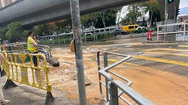 馬鞍山利安邨爆水管停水一日 居民取水至凌晨 鬧爆安排差