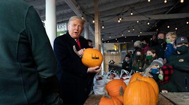 James Corden Spots Donald Trump's Big Pumpkin Problem