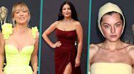 Kaley Cuoco, Catherine Zeta-Jones, Emma Corrin & More 2021 Emmy Awards Red Carpet Fashion