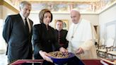Nancy Pelosi gives pottery made by Vermont artist to Pope Francis