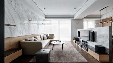 中古屋翻新現代和風退休宅!石材與木紋細膩堆疊,創造剛柔並濟居家風貌