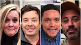 Late night hosts practice social distancing with dark humor, celebrity video-chats, self-quarantine tips