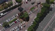 Jerusalem sinkhole swallows up parked cars