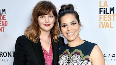 America Ferrera and Amber Tamblyn Celebrate NYE Together: 'Sisterhood of the Traveling Pod'
