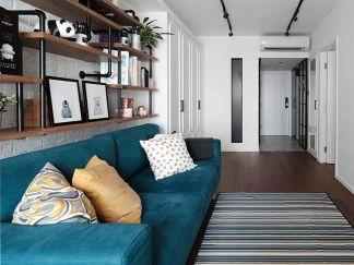 胡桃木色地板搭配黑白塗鴉花紋地磚 結合文化石牆營造復古韻味 - Price 最新情報