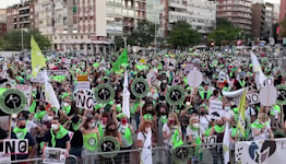Thousands protest against bullfighting in Madrid