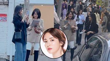 宋慧喬新劇開拍 街頭被捕獲造型曝光   蘋果日報