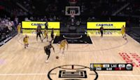 DeMarcus Cousins with a dunk vs the Los Angeles Lakers