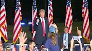 Former President Trump returns to campaign stage in Georgia
