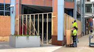 Minneapolis Buildings Boarded Up Ahead of Derek Chauvin Trial Verdict