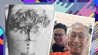 黃樹棠兒子紋身紀念爸爸 兩父子「同遊」全世界