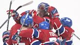 Perreault has hat trick, Canadiens top Red Wings for 1st win