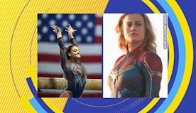 Olympic gymnast channels Captain Marvel