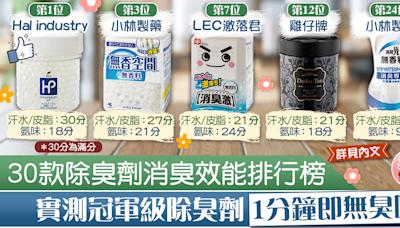 【超市大搜查】《LDK》公布30款除臭劑消臭效能排行榜 實測冠軍級除臭劑1分鐘即無臭味【附完整排名】 - 香港經濟日報 - TOPick - 健康 - 食用安全