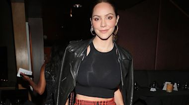 Katharine McPhee Poses In Smoking Hot Blue Bikini, Charlie's Angels Style!
